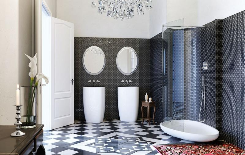 Art deco bathrooms in 23 gorgeous design ideas rilane for Bathroom ideas 1920s home