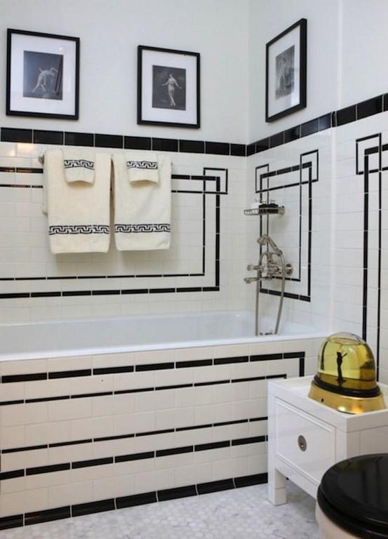 Art deco bathrooms in 23 gorgeous design ideas rilane for Classic art deco