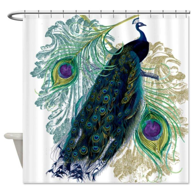Peacock Shower Curtains In 10 Colorful And Eccentric