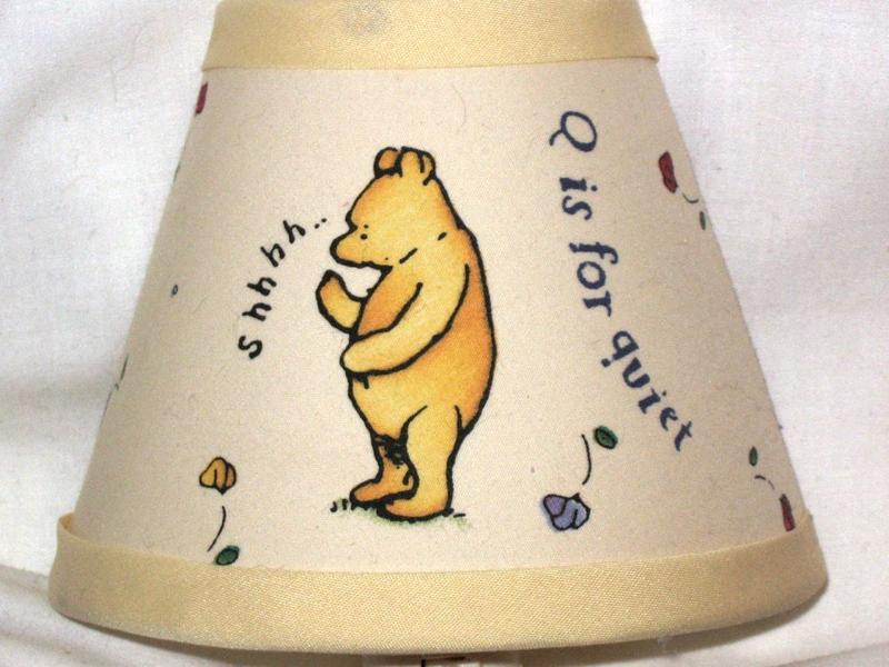 Winnie the pooh lamps in 10 fun designs rilane classic winnie the pooh alphabet design night lamp aloadofball Images