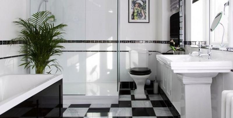 Art deco bathrooms in 23 gorgeous design ideas rilane for Bathroom ideas art deco