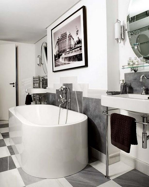 Contemporary Bathroom Art Prints art deco bathrooms in 23 gorgeous design ideas - rilane