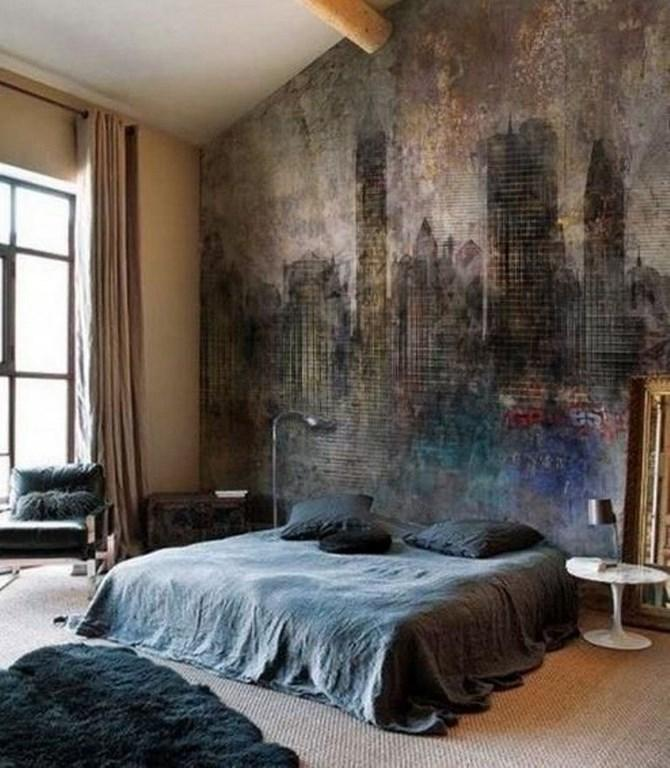 Bedroom wall murals in 25 aesthetic bedroom designs rilane for Cool wallpaper designs for bedroom