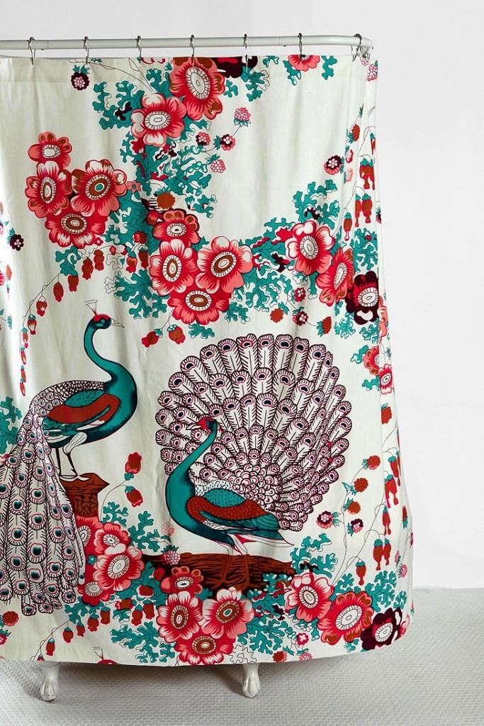 Peacock shower curtains in 10 colorful and eccentric Colorful shower curtains