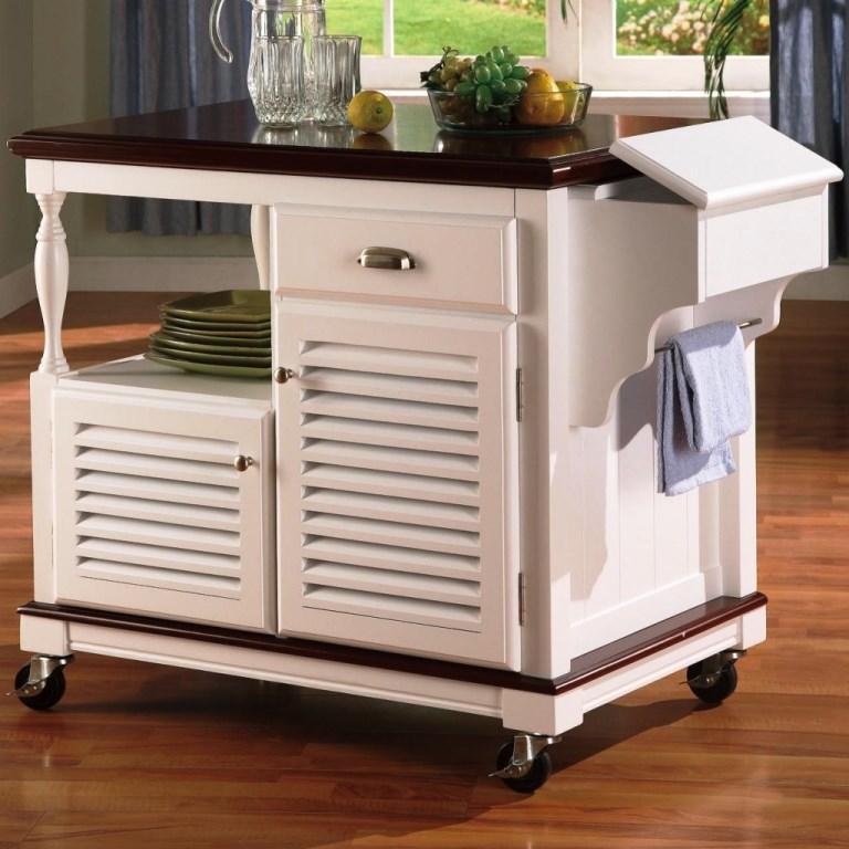 Portable Kitchen Islands In 11 Clean White Design Rilane