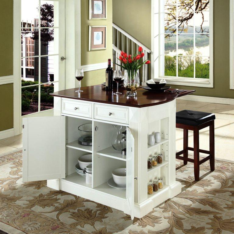 Kitchen Island No Top portable kitchen islands in 11 clean white design - rilane