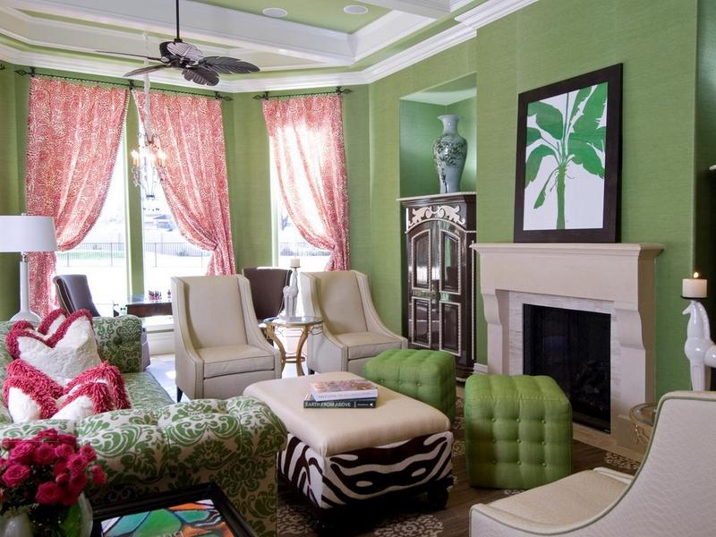 Refreshing Green With Pops Of Red