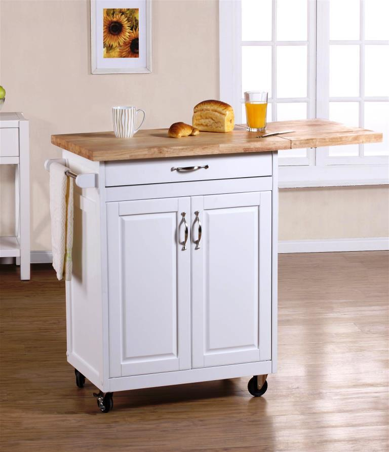 Small White Kitchen Island: Portable Kitchen Islands In 11 Clean White Design
