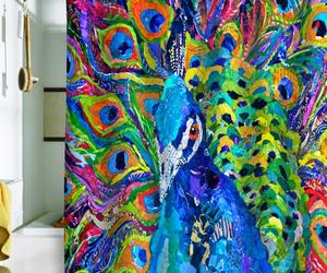 Peacock Shower Curtains in 10 Colorful and Eccentric Designs