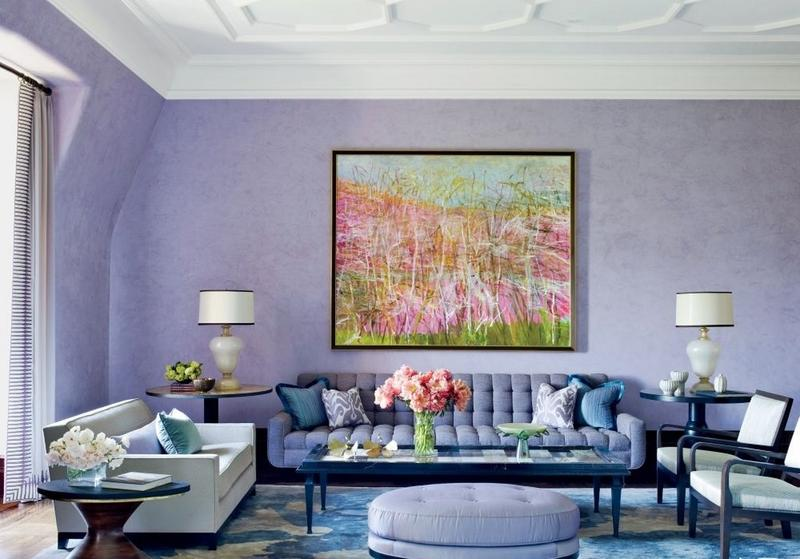 Tonal Purple Color Scheme. Living Room Colour Scheme In Exquistie 23 Design Ideas   Rilane
