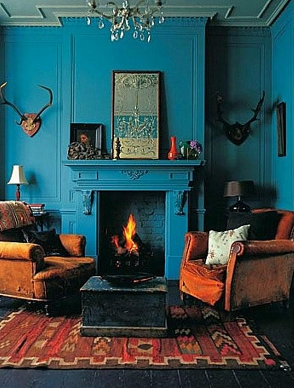 turquoise blue and tangerine orange. Interior Design Ideas. Home Design Ideas