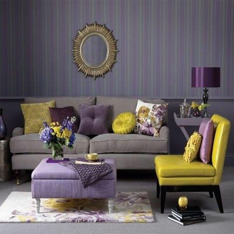 Purple Living Rooms living room colour scheme in exquistie 23 design ideas - rilane