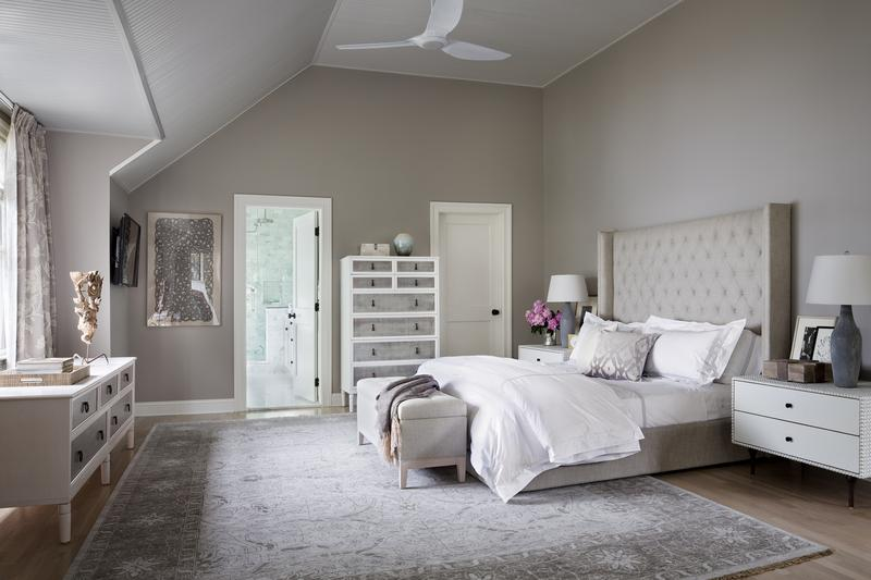 White Bedroom With A Large Bed