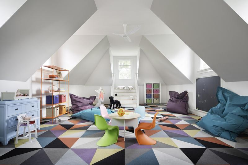 A Place Of Relaxation With A Colored Carpet