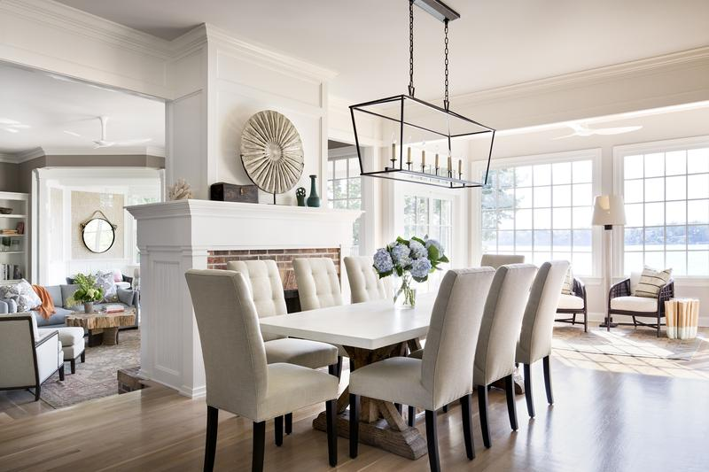 White Dining Room With Beautiful Chairs