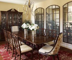 A Large Spacious Dining Room In The Old Style