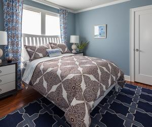 Interesting Bedroom In Blue Color