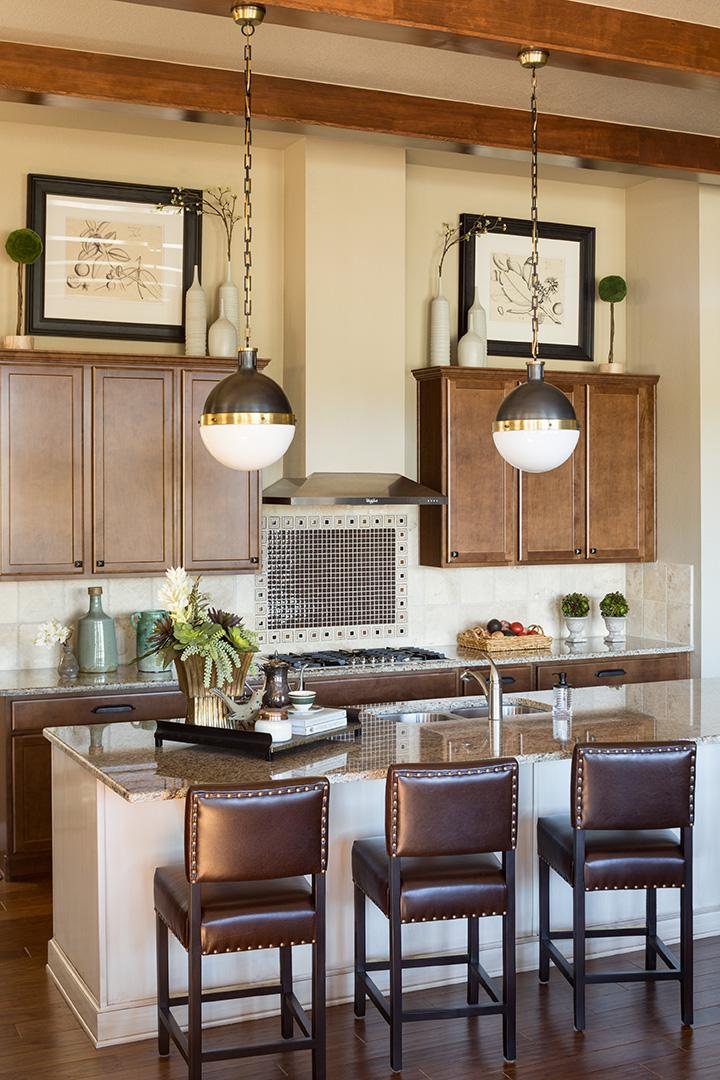 The Kitchen In Brown Colors